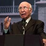 Pakistan to continue efforts for peace, stability: Sartaj Aziz