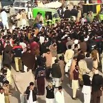 Citizens stage demo on arrival of Rana Sanaullah