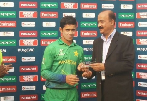 Umair Masood is named as the Man of the Match for his magnificent ton in a losing tie. –ICC