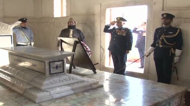 Change of guards ceremony held at mausoleums of Allama Iqbal