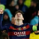 Barca's terrific trio down Arsenal to reach last eight