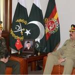 Turkish Chief of General Staff calls on COAS General Raheel Sharif