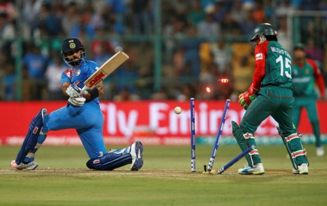 India beat Bangladesh by one run in World T20