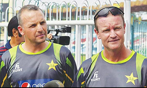 National team's fielding & batting coaches call on PCB chairman