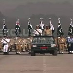 Rehearsal for Pakistan Day parade in Islamabad