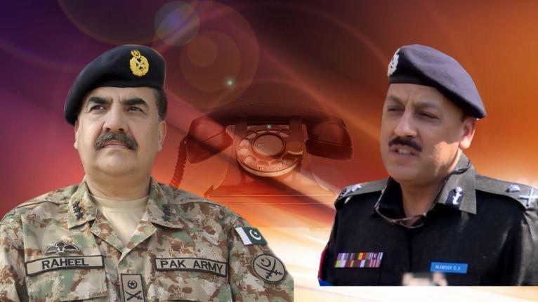 COAS Gen Raheel Sharif telephones IG Sindh, condoles martyrdom of cops