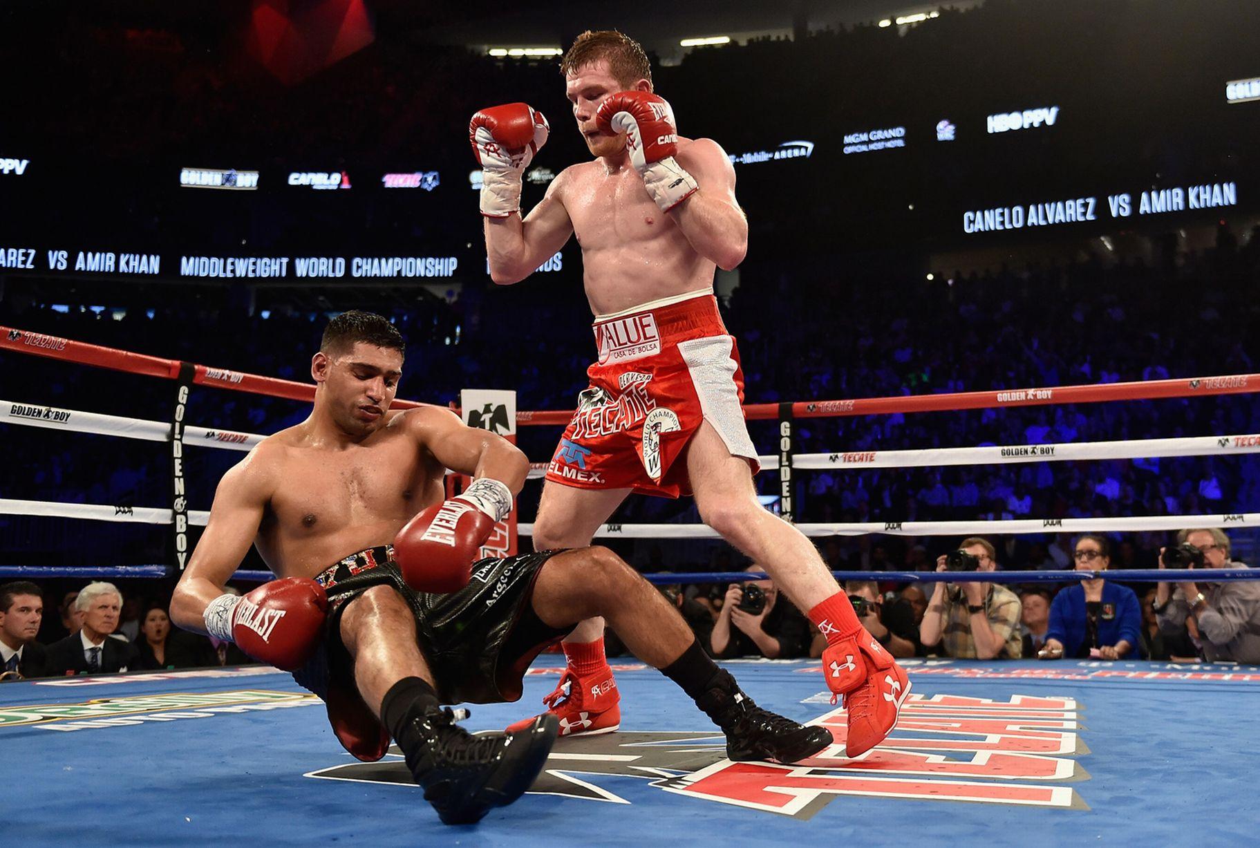 Amir Khan Knocked Out By Canelo Alvarez 92 News Hd Plus