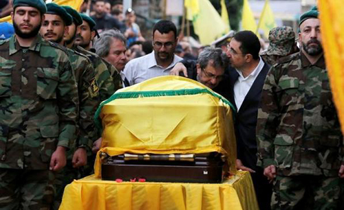 Hezbollah blames rebel shelling for death of top commander in Syria