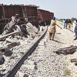 Five carriages of freight train derail due to blast