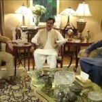 Shahbaz Sharif meets Yousaf Raza Gillani; congratulates him on his son's recovery