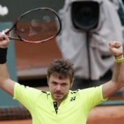 Switzerland's Stan Wawrinka reacts at the end of the match. REUTERS/Gonzalo Fuentes