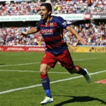 Hat-trick hero Suarez leads Barca to title glory