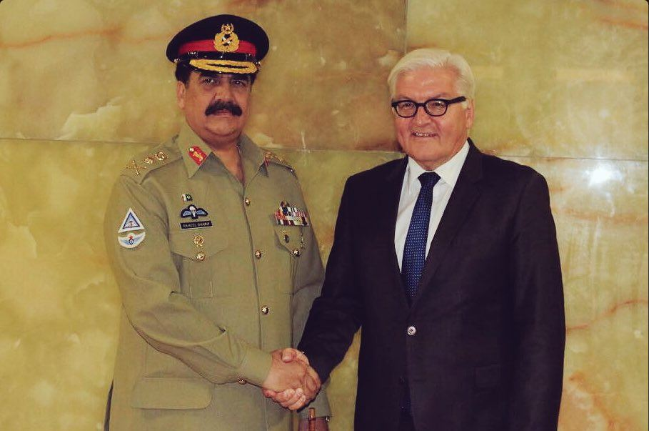 COAS, German foreign minister discuss bilateral ties, peace in region