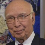 UN Secy General's Special Representative for Afghanistan calls on Sartaj Aziz