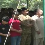 Funeral of martyred Major Ali Jawad Khan held in Peshawar
