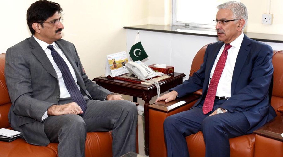 Sindh CM, Kh Asif discuss loadshedding issue