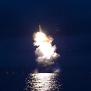A test-fire of strategic submarine-launched ballistic missile is seen in this undated photo released by North Korea. REUTERS/KCNA