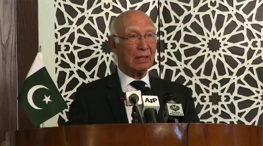 Sartaj Aziz says Pak-US ties may improve