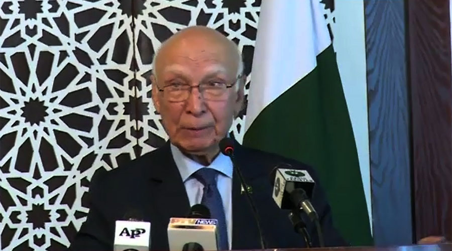 India can't divert world attention from Kashmir issue: Sartaj Aziz