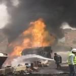 Two dead as oil tanker catches fire in Karachi