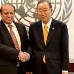 PM Nawaz hands over dossier of Indian atrocities in IHK to Ban-ki Moon