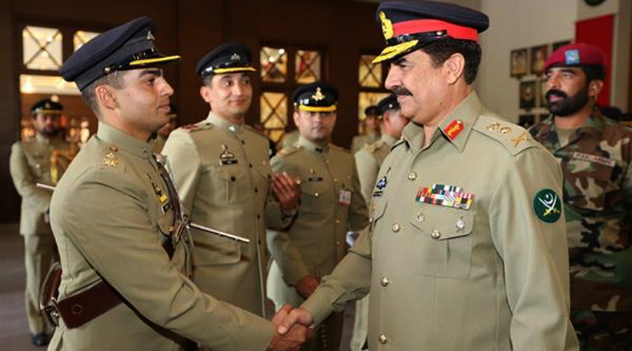 Our officers always upheld proud tradition of leading from front in war on terror: COAS