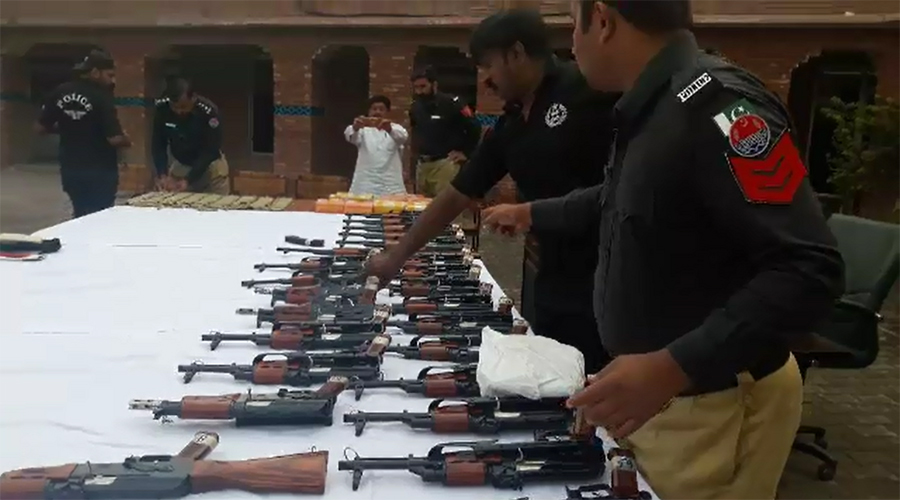 Weapons-laden vehicle seized, two accused arrested in Chiniot