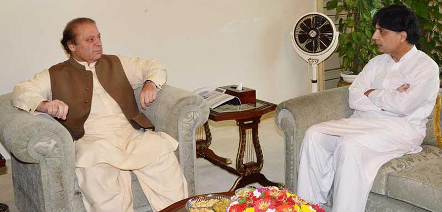 Nisar calls on Nawaz Sharif ahead of PM's visit to Azerbaijan