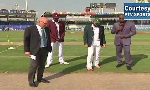 Pakistan bats in third test with West Indies