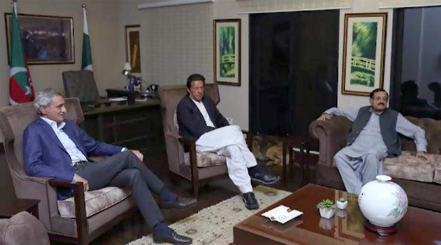 PML-Q leader Maj (retd) Tahir Sadiq calls on Imran Khan