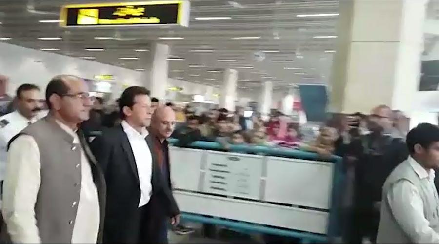 PTI chairman Imran Khan reaches Lahore after London tour