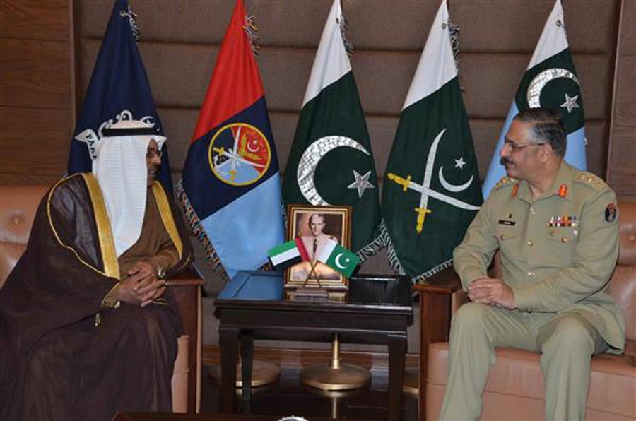 UAE ambassador calls on CJCSC Gen Zubair Mahmood Hayat