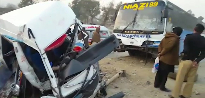 Road mishap leaves seven dead in Haripur