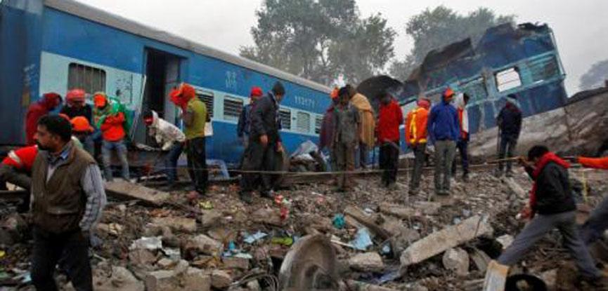 India train crash injures at least 43