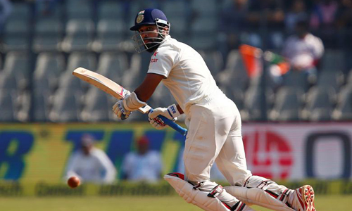 Vijay hits hundred as India march towards England's 400