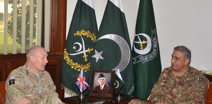Commander Joint Operations UK calls on COAS Gen Qamar Bajwa