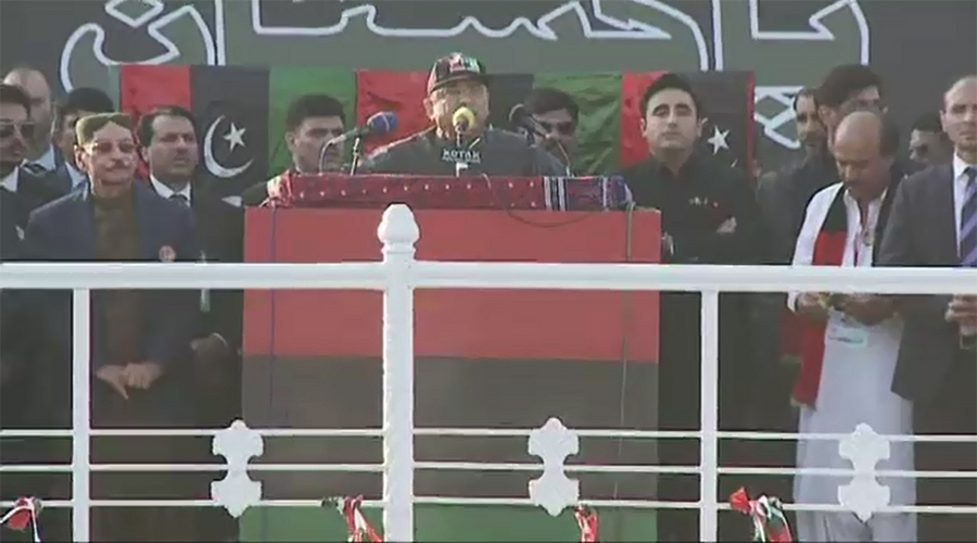 Asif Zardari announces to go to parliament with his son