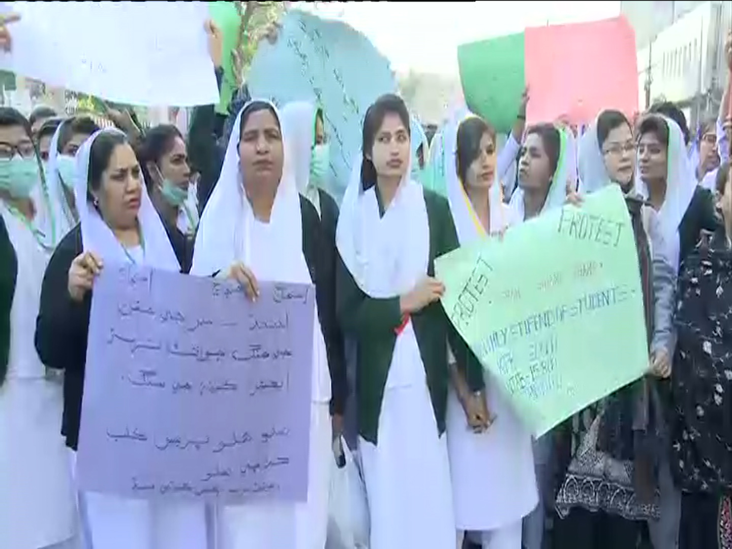 Nursing staff protest in Sindh for fulfillment of demands