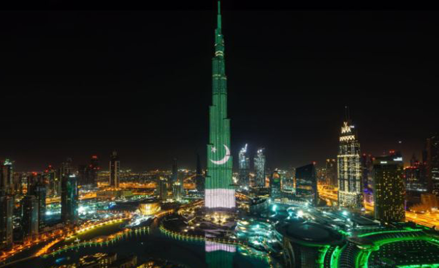 DG ISPR thanks Burj Khalifa, UAE authorities for adding color to Pakistan Day celebrations
