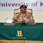 DG Rangers Sindh Maj Gen Muhammad Saeed visits school
