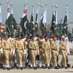 Full dress rehearsal of Pakistan Day parade carried out