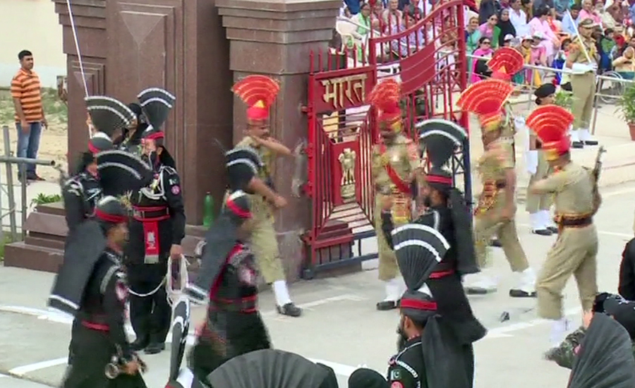 Pakistan Day: Impressive flag-lowering ceremony held at Wagah Border
