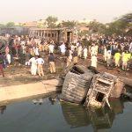 Tragic train, oil truck collision in Sheikhupura kills two