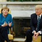 Trump, Merkel hold first face-to-face meeting at White House