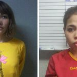 Women charged with North Korean's murder leave court in bullet-proof vests