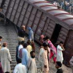 Freight train derails in Chichawatni