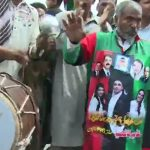 Party workers celebrate Kazmi's release in Multan