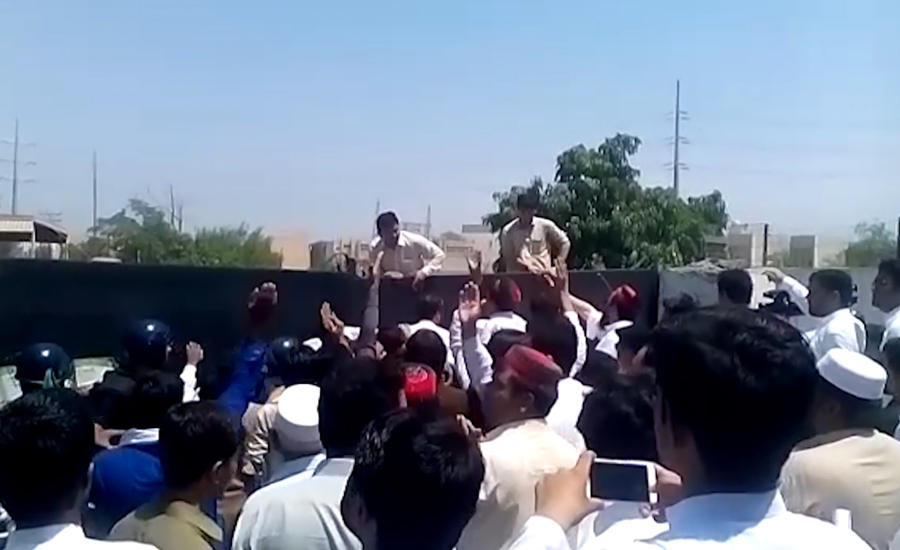 PTI stages protest against prolonged power cuts in Peshawar