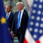 Trump meets EU chiefs in Brussels