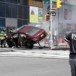 Car rams Times Square pedestrians, kills one, injures others